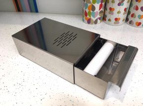 Stainless steel coffee knockout drawer